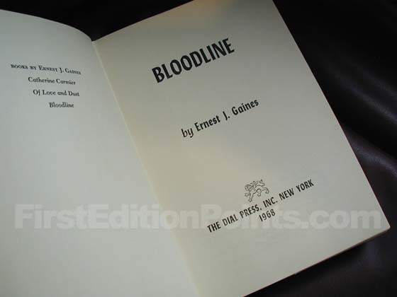 Picture of the first edition title page for Bloodline.