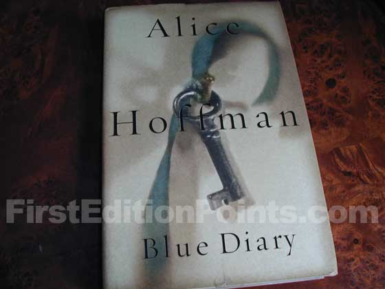 Picture of the 2001 first edition dust jacket for Blue Diary.