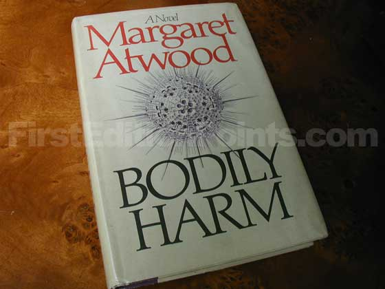 Picture of the 1981 first edition dust jacket for Bodily Harm.