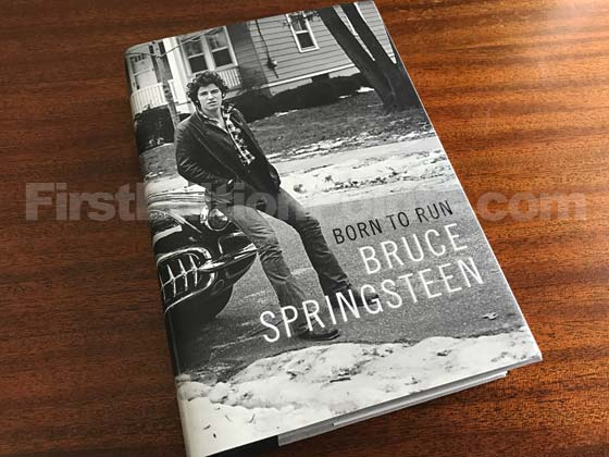 Picture of the 2016 first edition dust jacket for Born to Run.