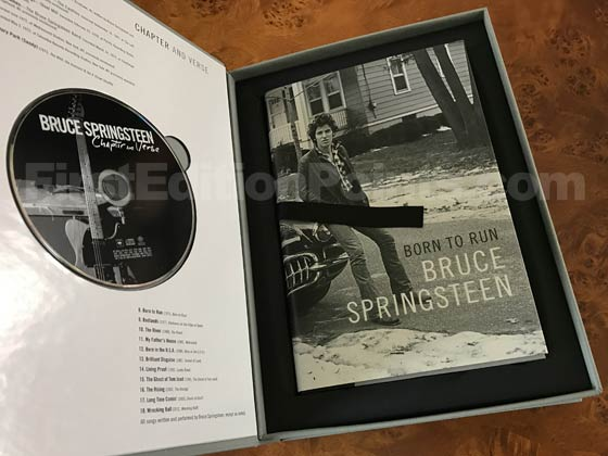 The Deluxe Limited Edition of Born to Run included a signed and numbered copy of the