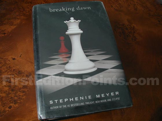 Picture of the 2008 first edition dust jacket for Breaking Dawn.