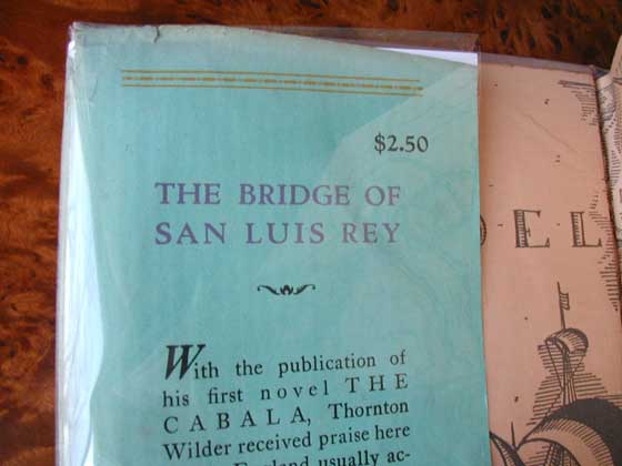Picture of dust jacket where original $2.50 price is found for the first U.S. edition of