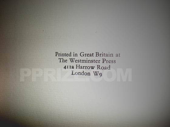 This is the copyright page of the first UK edition.  There is no statements of subsequent