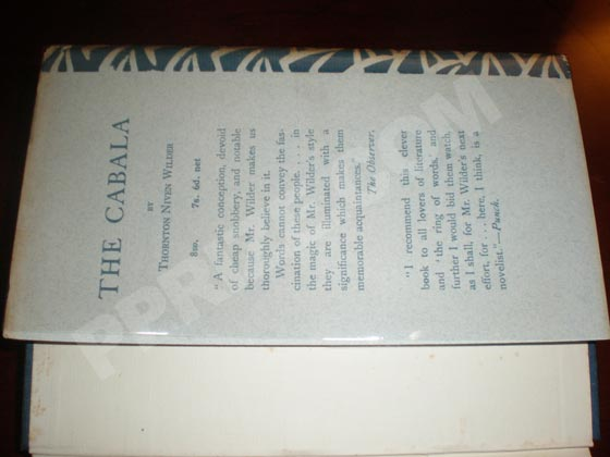 Picture of the back flap of the dust jacket for the first UK edition of The Bridge of San