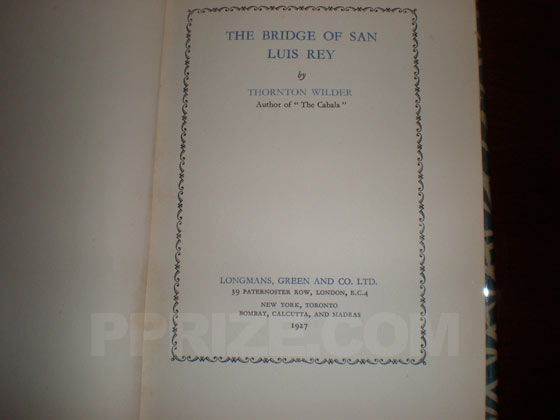 This is the title page of the first UK edition.  It states 1927 on the bottom.