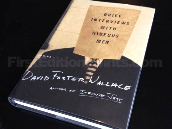 Picture of the 1999 first edition dust jacket for Brief Interviews With Hideous Men.