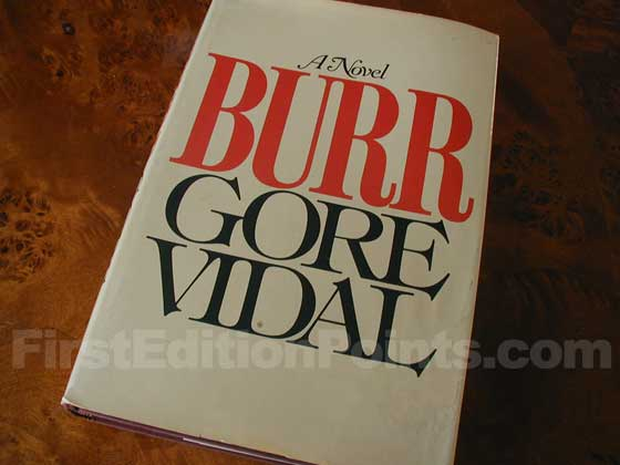 Picture of the 1973 first edition dust jacket for Burr.
