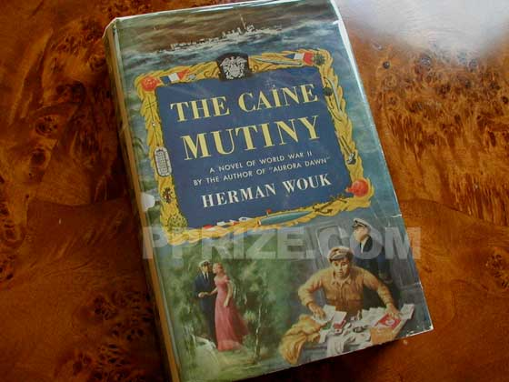 Picture of the 1951 first edition dust jacket for The Caine Mutiny.