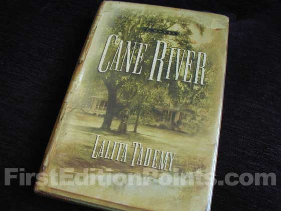Picture of the 2001 first edition dust jacket for Cane River.