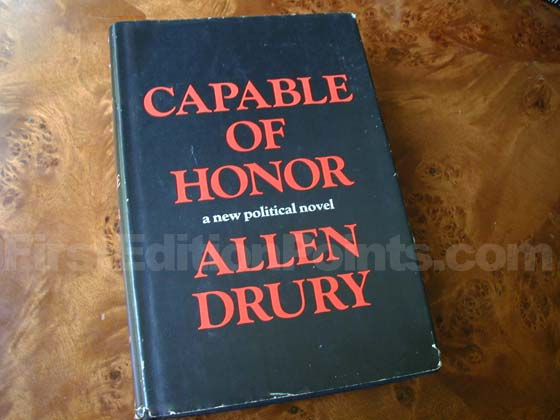 Picture of the 1966 first edition dust jacket for Capable of Honor.