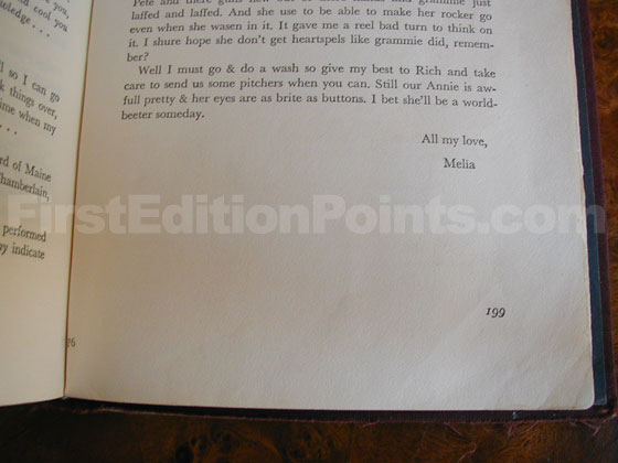 """P6"" is printed in the gutter on page 199 of the first edition of Carrie."