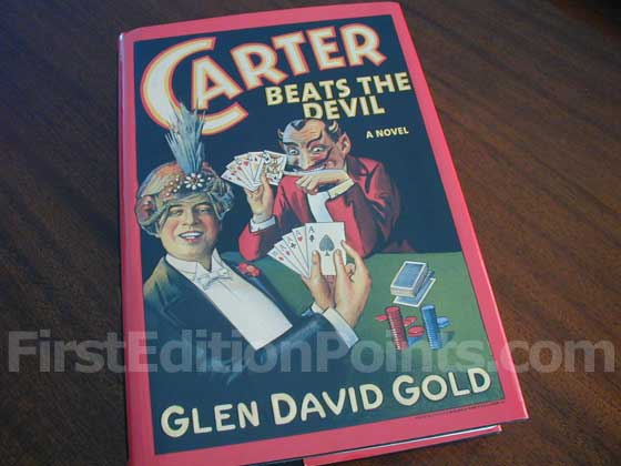 Picture of the 2001 first edition dust jacket for Carter Beats the Devil.