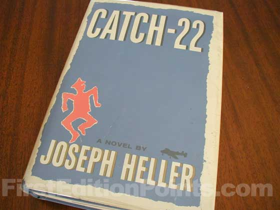 Picture of the 1961 first edition dust jacket for Catch-22.