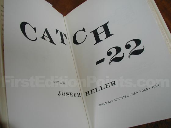 Picture of the first edition title page for Catch-22.