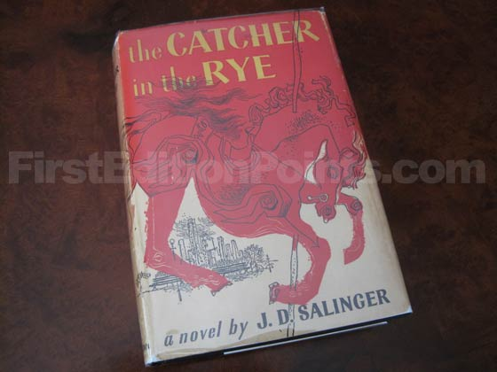 Picture of the 1951 first edition dust jacket for The Catcher in the Rye.