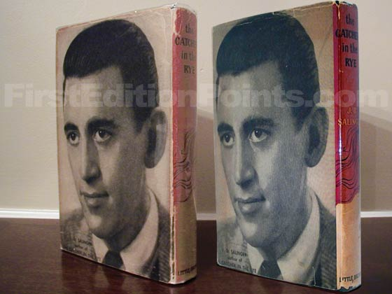 The dust jacket on the left is from a second printing.  The dust jacket on the right is