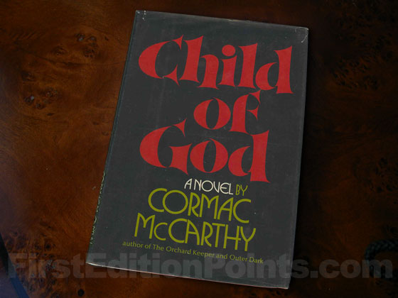 Picture of the 1973 first edition dust jacket for Child of God.