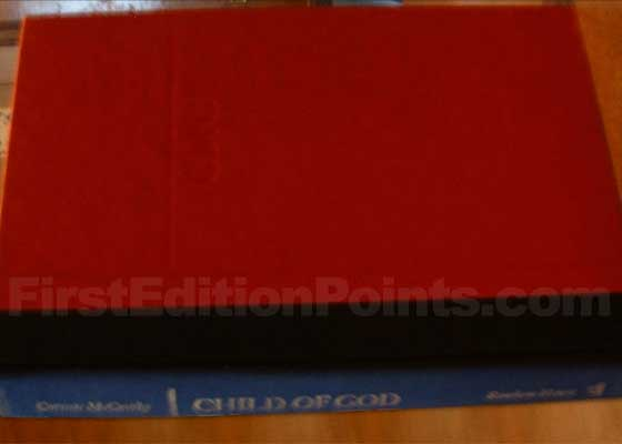 Picture of the first edition Random House boards for Child of God.