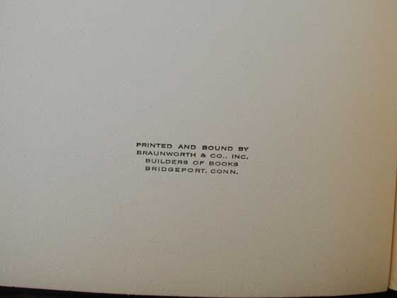 The 1939 Christ in Concrete has a printer statement on the bottom of the copyright page.