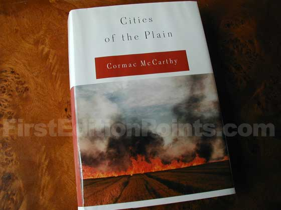 Picture of the 1998 first edition dust jacket for Cities of the Plain.