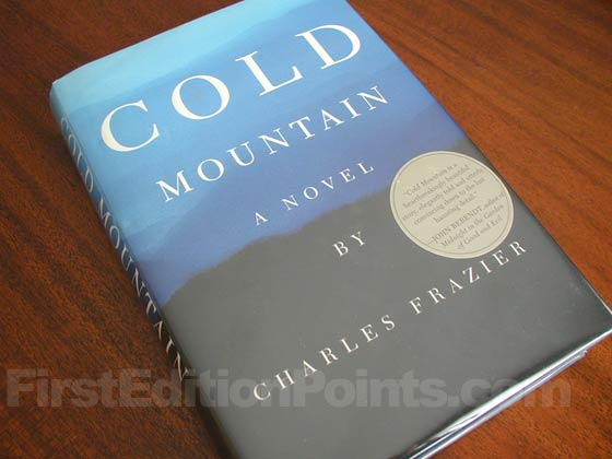 Picture of the 1997 first edition dust jacket for Cold Mountain.