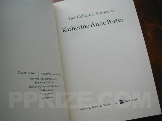 Picture of the title page for The Collected Stories of Katherine Anne Porter (U.S.)