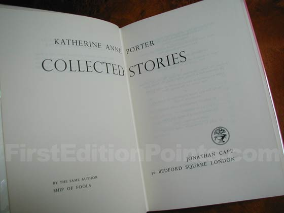Picture of the first edition title page for The Collected Stories of Katherine Anne