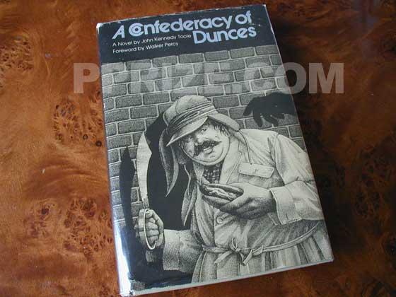 Picture of the 1980 first edition dust jacket for A Confederacy of Dunces.