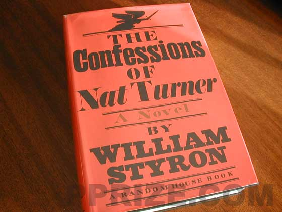 Picture of the 1967 first edition dust jacket for The Confessions of Nat Turner.