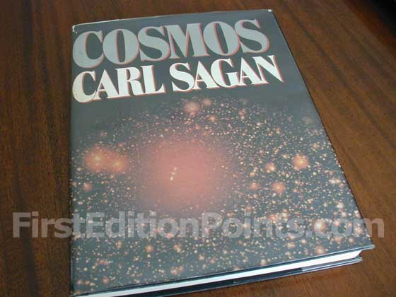 Picture of the 1980 first edition dust jacket for Cosmos.