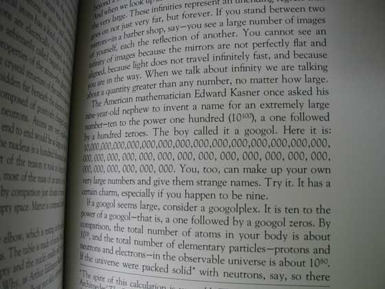 Cosmos introduced many of us to very large numbers such as a googol and a googo