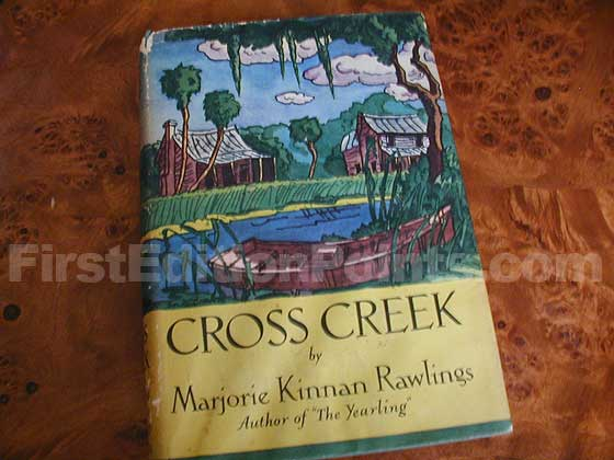 Picture of the 1942 first edition dust jacket for Cross Creek.