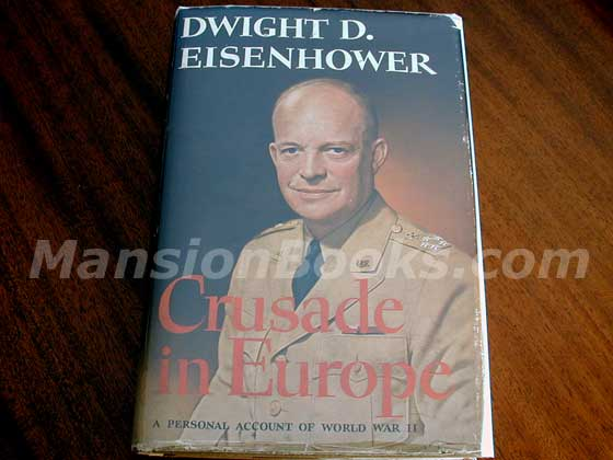 Picture of the 1948 first edition dust jacket for Crusade in Europe.