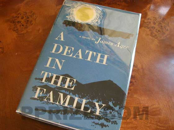 Picture of the 1957 first edition dust jacket for A Death in the Family.