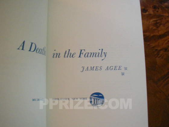 The first state of the first printing has blue printing on the title page and the
