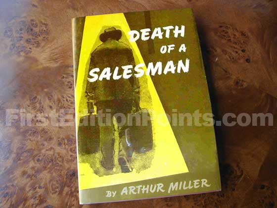 Picture of the 1949 first edition dust jacket for Death of a Salesman.