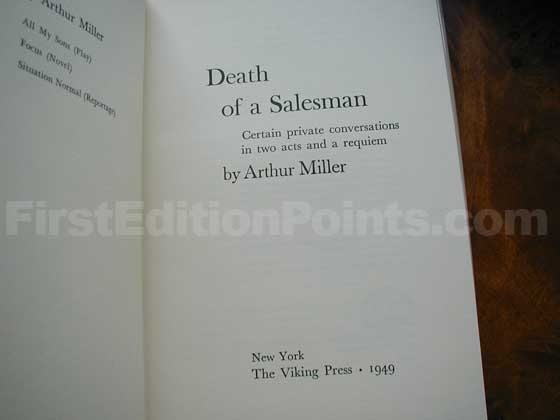 This is the title page for Death of a Salesman.