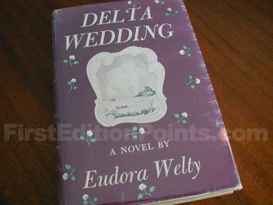 Picture of the 1946 first edition dust jacket for Delta Wedding.