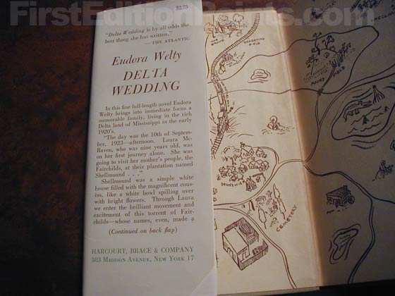 Picture of dust jacket where original $2.75 price is found for Delta Wedding.