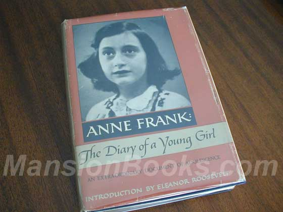 This is the First American Edition dust jacket for Anne Frank: The Diary of a Young G