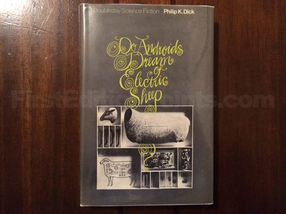 Picture of the 1968 first edition dust jacket for Do Androids Dream of Electric Sheep.