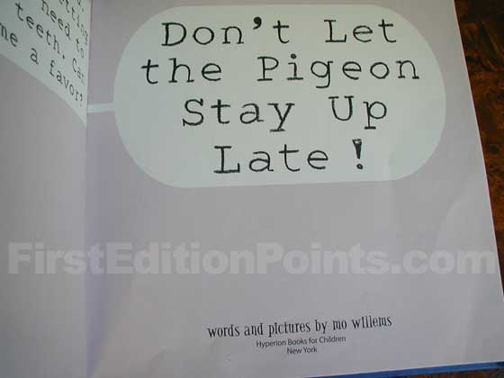 Identification picture of Don't Let the Pigeon Stay Up Late!.