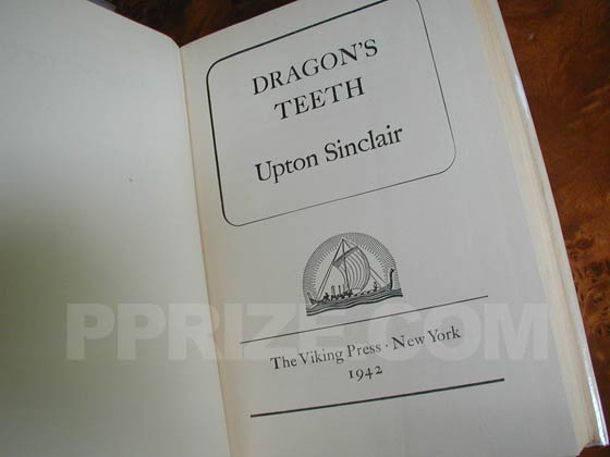 Picture of the title page for Dragon's Teeth.