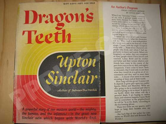This is a gift copy of Dragon's Teeth that the author distributed to friends and