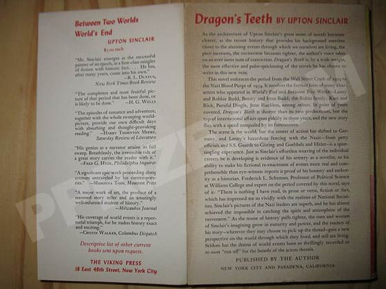 This the back wrapper from the gift copy of Dragon's Teeth.