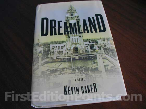 Picture of the 1999 first edition dust jacket for Dreamland.