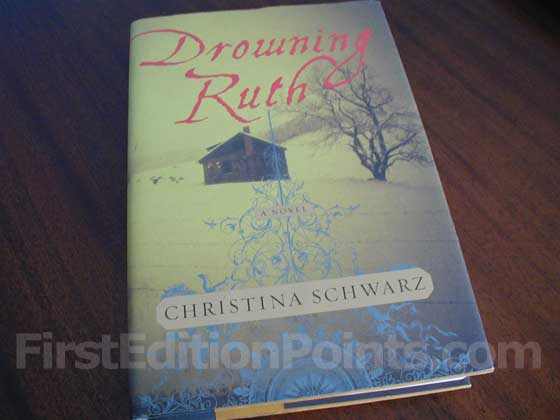 Picture of the 2000 first edition dust jacket for Drowning Ruth.