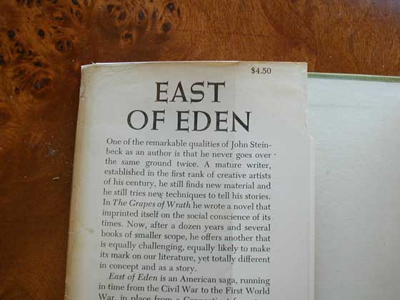Identification picture of East of Eden.