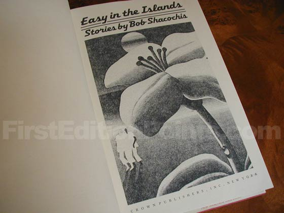 Picture of the first edition title page for Easy In The Islands.